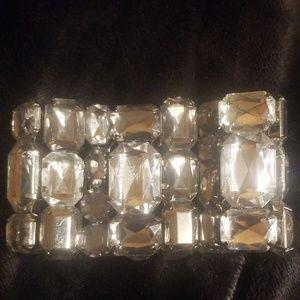 (🏷2/10) H&M Clear Crystal Stretchy Cuff